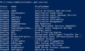 6 - Get-Service Output